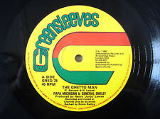 "Michigan & Smiley ‎The Ghetto Man Greensleeves UK 12"" GRED78 1982"