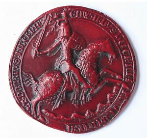 King Edward III Great Seal Reverse Red Medieval Reproduction Collectable Gift