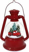 San Francisco Music Box Red Truck Lantern Snow Globe