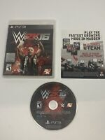 WWE W2K16 Sony PlayStation 3 PS3 W/ Case (No Manual) Tested Works