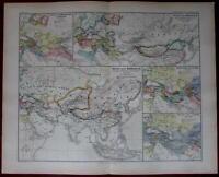 Kubilai Khan Mongolian Empire Asia Europe 1880