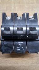 FEDERAL ELECTRIC STAB-LOK 60A 3 PHASE MCB 60 AMP TYPE D STAB LOK BREAKER TRIP