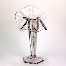 Art Deco Vintage Jack Pulpit Tulip Art Glass Vase Light Lavender Purple AS IS