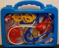 14 Pcs Kids Baby Doctor Medical Play Set Case Education Role Toy Boys Blue Kit
