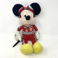Vintage Disney Mickey Mouse Soft Toy Plush Doll NASCAR Racer Driver 80s 90s