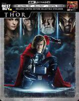 New Sealed Thor Steelbook 4K Ultra HD + Blu-ray + Digital Code