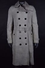 NWT $4895 Burberry London Sandringham Shearling Trench Coat sz 8 US Dusty Mauve