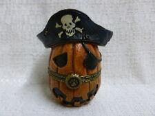 Boyds Bear Pegley's Pirate Jack O Lantern W/ Patch Treasure Box 1E 4022272