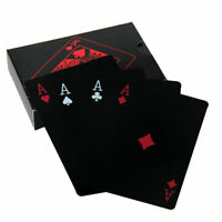 2 Decks Black Poker Playing Cards PVC Plastic High Quality Durable Waterproof