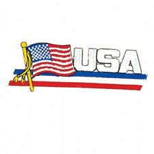 "Usa American Flag Martial Arts Patch - 4.5"" P1253"