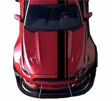 """Fits Ford MUSTANG 2""""&8"""" Offset RACING STRIPES CARBON FIBER Double Vinyl Decals"""