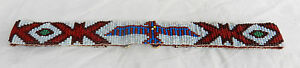 Vintage Native American Hand Beaded Beadwork Belt