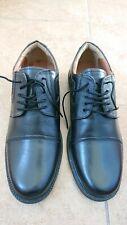 Men's George Oliver Black Leather Shoes Size UK 8 ( Worn Once).