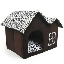 Luxury High-End Double Pet House Brown Dog Room 55 x 40 x 42 cm SH J7Y5 L5H T6P2