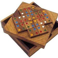 Color Match 12 Pcs - Wooden 3D Logic Wood Brain Teaser Puzzle