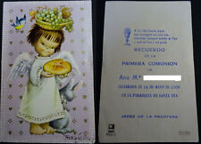 ESTAMPA PRIMERA COMUNION PARROQUIA SANTA ANA JEREZ 1968 HOLY CARD SANTINI CC1251