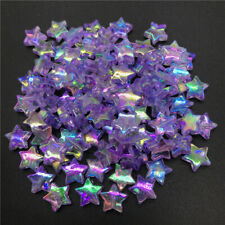 100pcs11mm Acrylic Spacer Beads Five-pointed Star Transparent Rainbow Beads