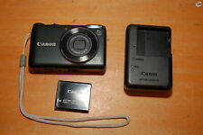 Canon PowerShot A2200 14.1MP Digital Camera - Black w/ Battery & Charger