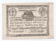 1,5 PAOLI STATO PONTIFICIO REPUBBLICA ROMANA ASSEGNATO 09/09/1798 qFDS
