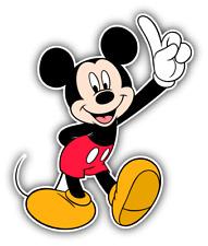Mickey Mouse Happy Cartoon Car Bumper Sticker Decal 4'' x 5''