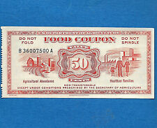 1967 Food Stamp COUPON .50 Cents USDA serial B36007500A SCRIP GEM UNC FANCY #