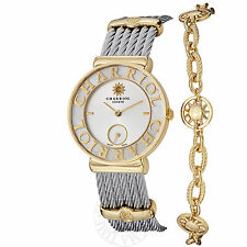 Charriol Women's St Tropez MOP Dial Sun Bracelet Quartz Watch ST30YC560012