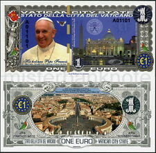NEW SPECIMEN 1 EURO 2016 POPE FRANCIS VATICAN CITY POLYMER FANTASY ART BANKNOTE!