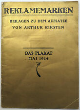Poster Stamps Das Plakat 1914 supplement, pull-out. 12 pages with poster stamps.