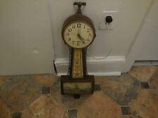 Antique New Haven Banjo Electric Wall Clock 1920s. Works !