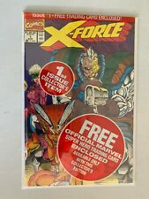 X-Force #1 polybagged with Deadpool card 8.0 VF (1991)