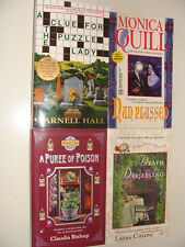 Lot of 4 Mysteries Laura Childs, Monica Quill, Claudia Bishop, Parnell Hall