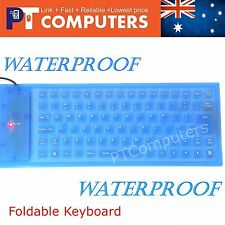 Waterproof Portable Foldable Flexible USB Keyboard for PC Laptop-85 Keys
