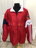 Vtg Adidas USA Olympic Windbreaker Jacket 2000 Sydney Budweiser Supporter XL/XG