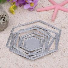 Hexagon spiral Metal Cutting Dies Stencil Scrapbook Album Paper Card Embossing