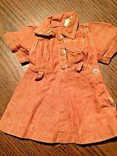 Vintage Brown Terri Lee Doll Dress