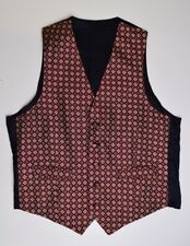 """M1306 MARKS AND SPENCER MEN'S RED SILK WAISTCOAT SIZE  M/ 38-40"""""""