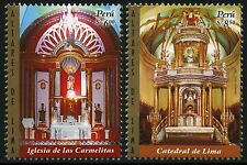 Peru 2007 Kirchenaltäre in Lima Churches Kathedrale 2266-67 Postfrisch MNH