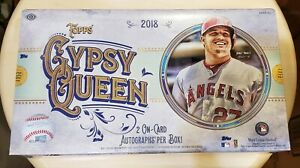 2018 Topps Gypsy Queen Baseball Factory Sealed Hobby box FREE SHIP WORLDWIDE!