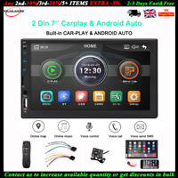 "7""2 Din Car Stereo Radio Double Din for Apple CarPlay Android FM MP5 Player+CAM"