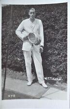 TILDEN BILL ORIGINAL VINTAGE 1920's PHOTOGRAPHIC TENNIS POSTCARD