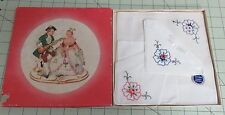 3 Vintage Boxed Handkerchiefs- Swiss Made White W/Embroidered Flowers