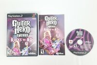 Guitar Hero Encore Rocks The 80s Playstation 2 Game PS2 Free Shipping!