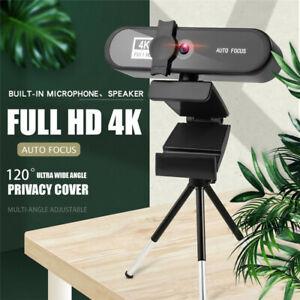 In Stcok 2K 4K Conference PC Webcam Autofocus USB Web Camera Laptop Desktop For
