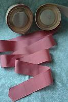 10 yard 1 1/2 wide vtg roll grosgrain dark pink ribbon hat dress millinery 19