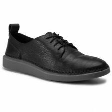 Clarks Ladies Active Air Flat Shoes HALE LACE Black Leather UK 6.5 / 40