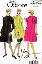 Misses Dress Tunic Skirt Vogue Easy Options Vintage Pattern 8197  Sz 20-24 Uncut