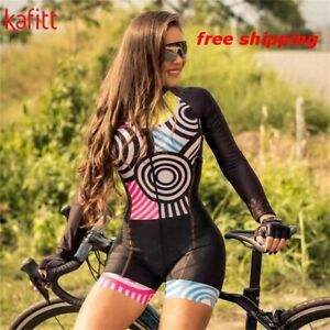2020 Pro Team Triathlon Women Cycling Jersey Skinsuit Long Sleeve Set All Sizes