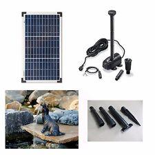 20 W Solarpumpe Wasserspeier Seehund Solar Teich Gartenteich Pumpe Teichfigur !!