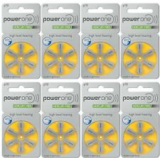 Super Fresh Lot 6 to 300 Powerone Zinc Hearing Aid Battery Size 10 P10 Power one