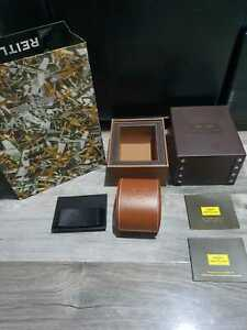 Breitling Watch Box Brown Leather Rare Edition Good Condition FREE FAST DELIVER!